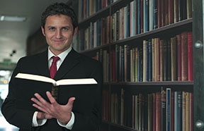 lawyer with book