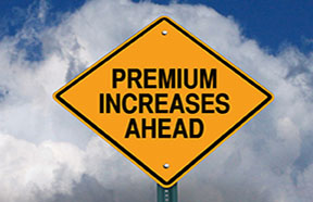 premium increases sign