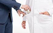 man putting money in dr pocket