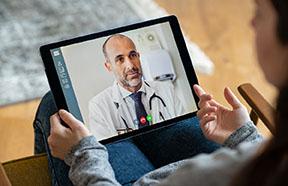 dr appt on tablet