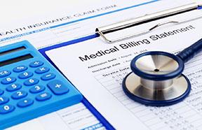 medical bill and calculator
