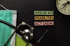 mask, stethoscope, ADA sign