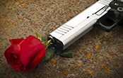 gun with a rose