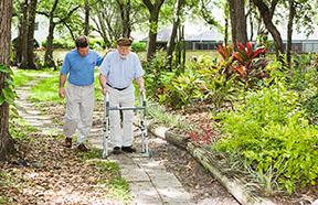 men walking on path