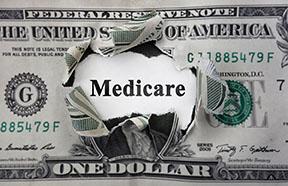 Medicare printed on dollar bill