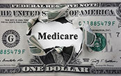 Medicare printed on dollar bill