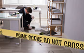 work crime scene