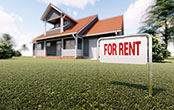 house with rent sign